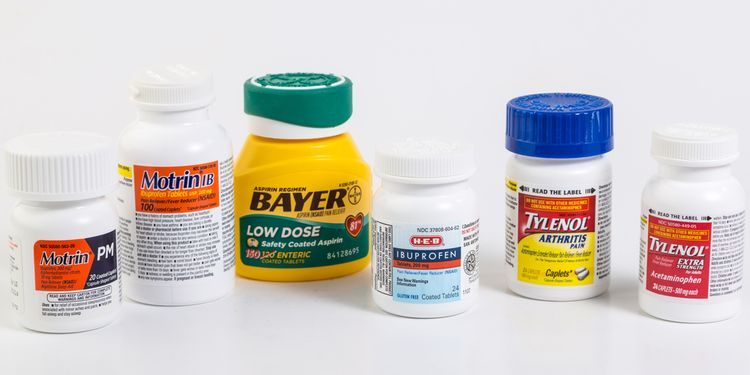 Photo of different brand of drugs that may cause leaky gut