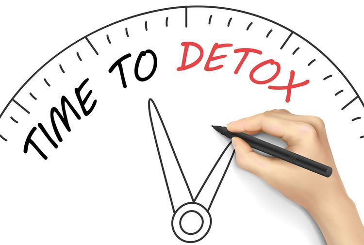Illustration Saying TIME TO DETOX
