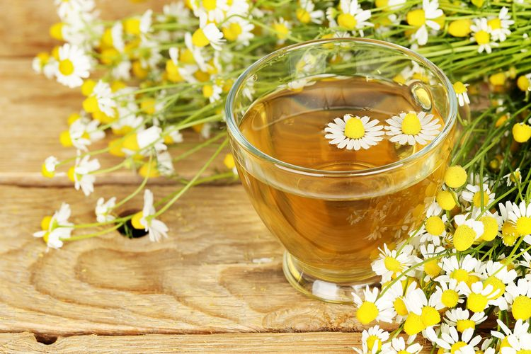 Photo of a  Cup of Chamomile Tea that helps against anxiety