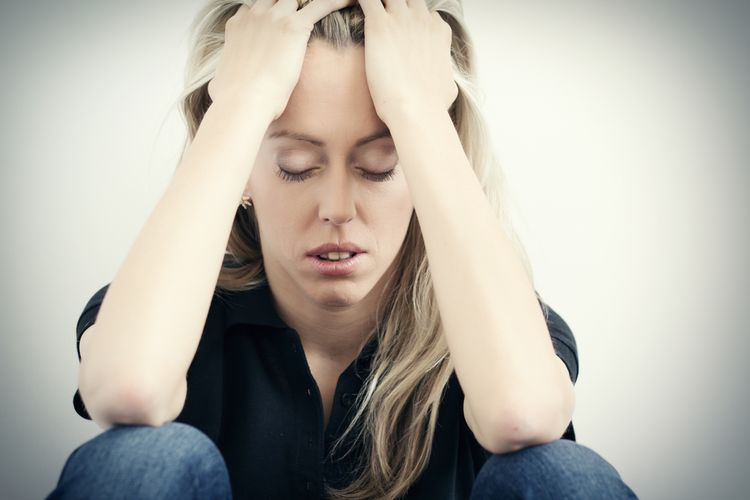Photo of a chronically stressed woman