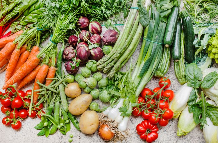 Photo of Fresh Vegetables that are used in pegan diet