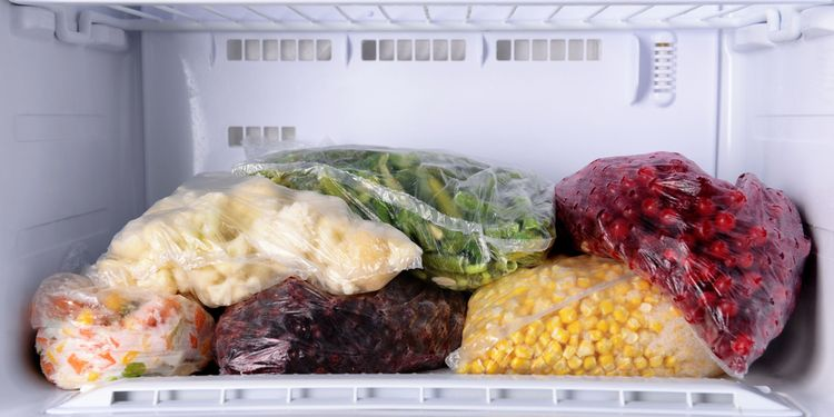 Photo of a vegetables in deep freezer