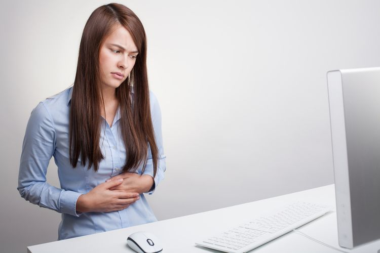 Photo of a girl with Gut pain, IBS