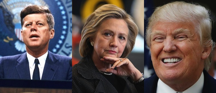 Photo of Politicians With Health Conditions - JFK, Hillary Clinton and Donald Trump