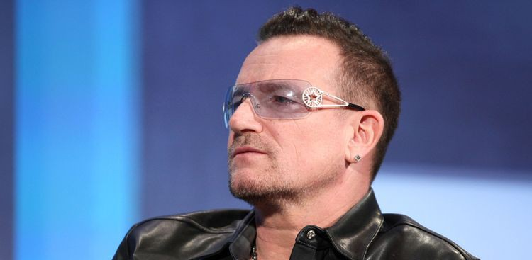 Photo of Bono who suffered from glaucoma