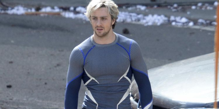 Photo of Aaron Taylor-Johnson in Avengers: Age of Ultron looking fit