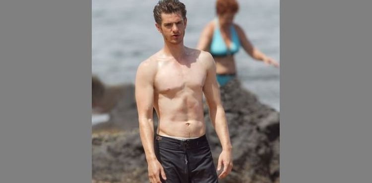 Photo of Andrew Garfield shirtless looking ripped
