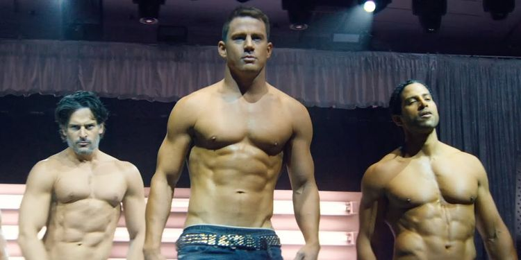 Photo of Chaning Tatum in Magic Mike XXL looking ripped