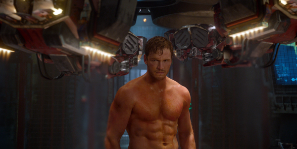 Photo of Chris Pratt in Guardians of Galaxy looking ripped