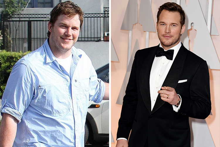 Photo of Chris Pratt who lost weight thanks to paleo diet and crossfit