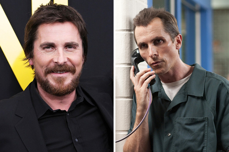 Photos of Christian Bale who lost 70 lbs for the role in The Machinist