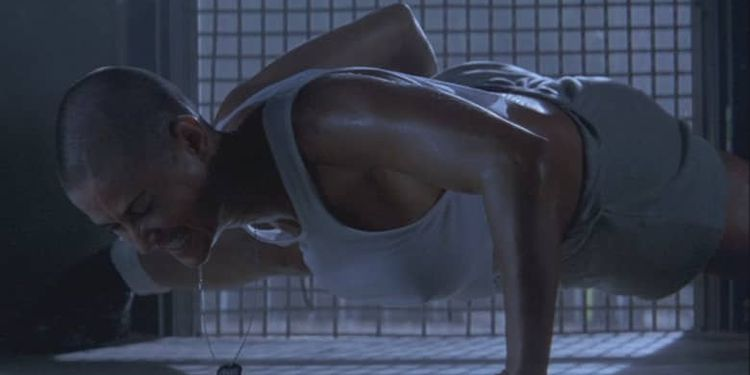 Photo of Demi Moore in G.I. Jane looking ripped and fit