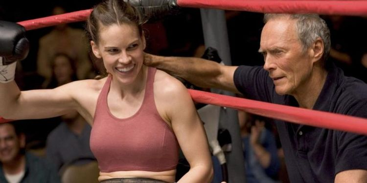 Photo of Hilary Swank in Million Dollar Baby looking slender and fit