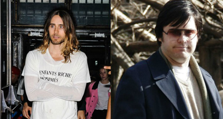 Photos of Jared Leto before and after weight gain