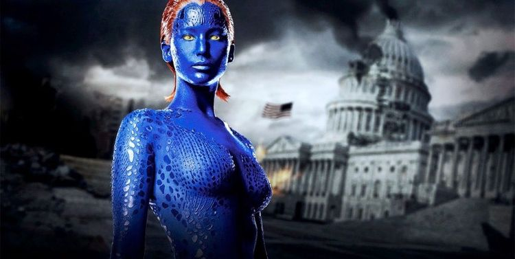 Photo of Jennifer Lawrence in X Men First Class looking amazingly fit