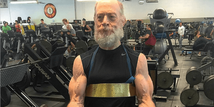 Photo of JK Simmons In Gym looking extremely shredded
