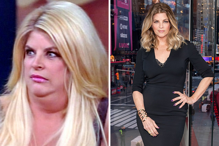Photo of Kirstie Alley who lost 50lbs using jenny Craig methof