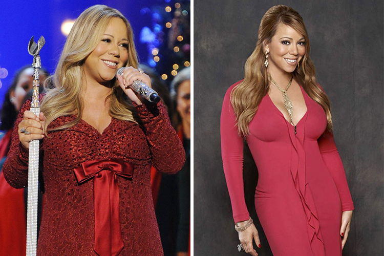 Photo of Mariah Carey who gained 70 lbs after her pregnancy