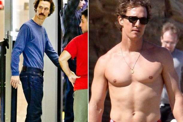 Photo of Matthew Mcconaughey who looked emaciated in Dallas Buyers Club