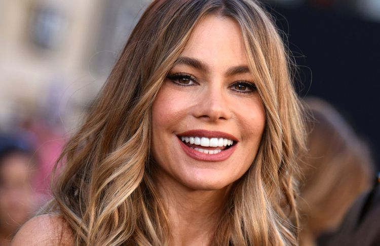 Close up photo of Sofia Vergara smiling