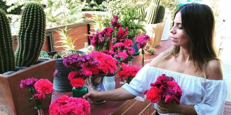 Wellness warrior Ally Hilfiger with flowers