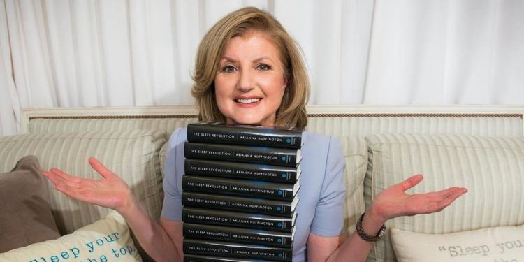 Wellness warrior Arianna Huffington promotes her The Sleep Revolution book.