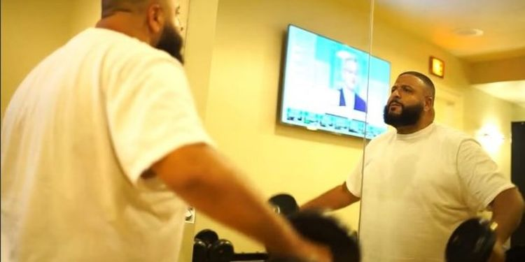 Wellness warrior DJ Khaled is doing workout
