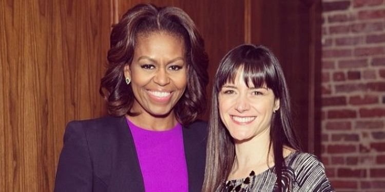 Wellness warrior Darya Rose and Michelle Obama.