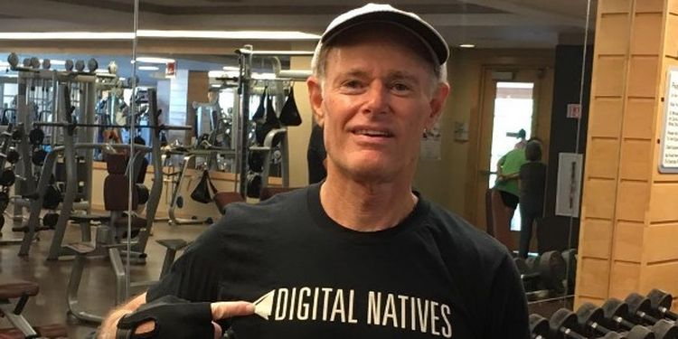 Wellness warrior David Perlmutter in the gym
