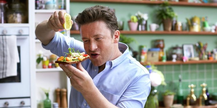 Wellness warrior Jamie Oliver juices the dish.