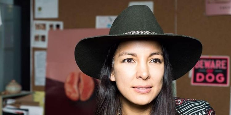 "Wellness warrior Miki Agrawal in her studio creating ""period-proof"" underwear."