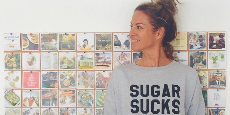 Wellness warrior Sarah Wilson in the Suger Sucks long sleeve.