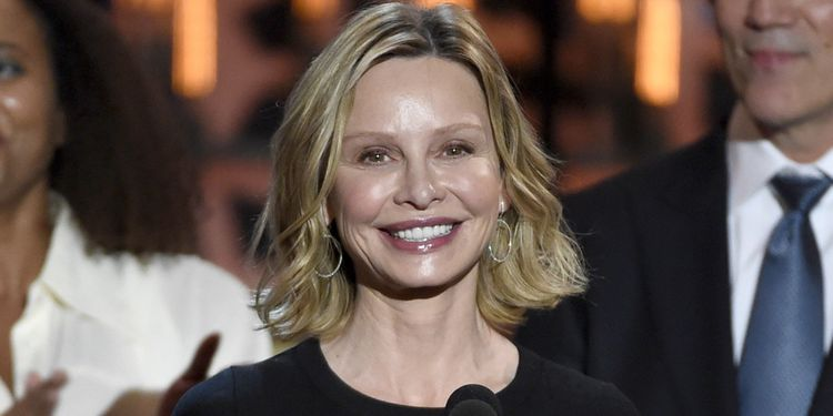 Photo of Calista Flockhart who suffered from anorexia