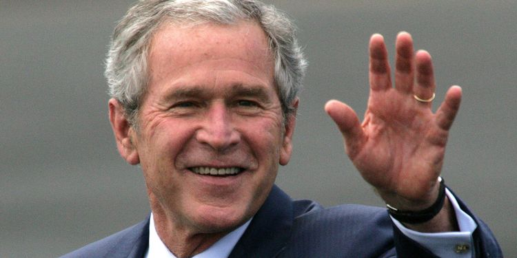 Photo of George W. Bush who suffered from lyme disease