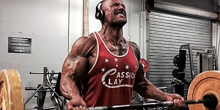 Dwayne Johnson's workout routine: weightlifting