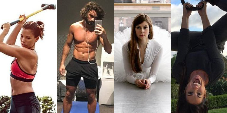 Image of Marie Purvis, Joe Wicks, Mary Helen Bowers, and Natalie Jill who have the hottest health accounts on instagram