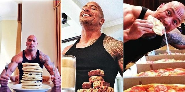 Dwayne Johnson daily diet