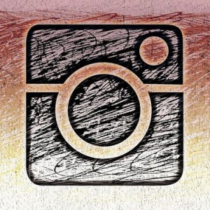 Drawing of an Instagram logo