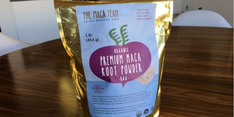 Image of a pack of maca root