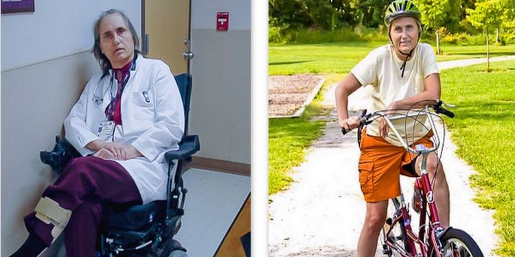Image of Terry Wahls in a wheelchair