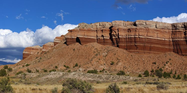 Photo of bentonite hills in Utah