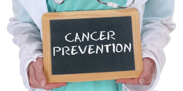 Cancer prevention screening check-up disease ill illness healthy health doctor with sign