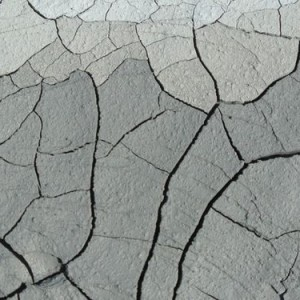 Photo of a clay ground cracks after drought