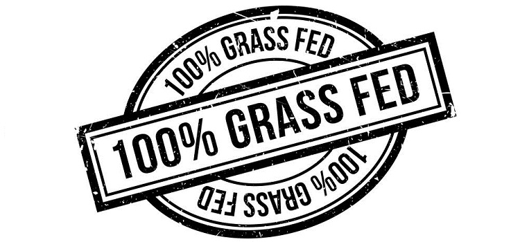 100 percent grass fed rubber stamp