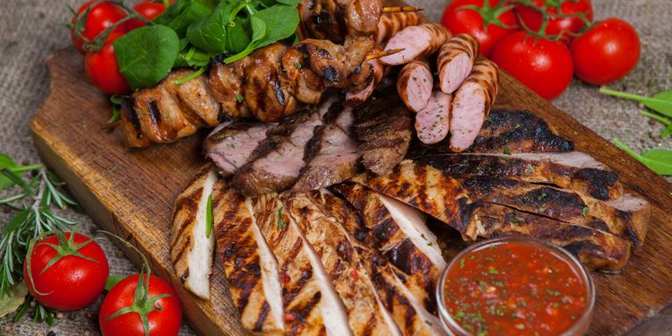 Photo of a platter with mixed meats