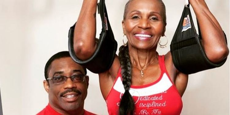 Image of Ernestine Shepherd one of the strongest seniors in the world