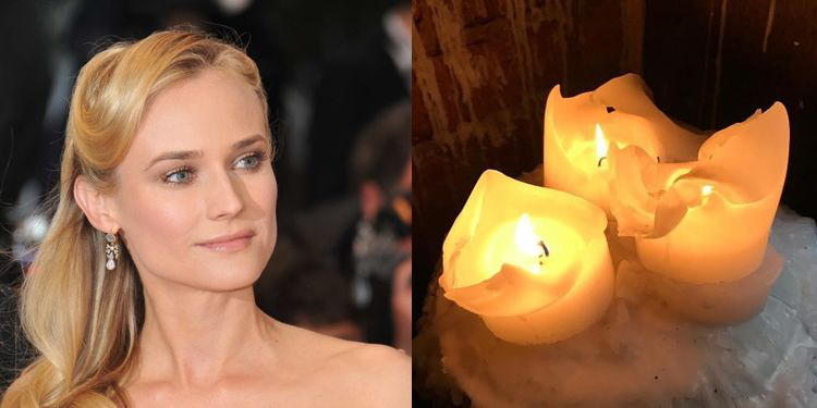 Image of Diane Kruger who suffers from allergy