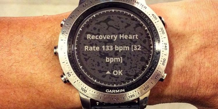 images of the watch showing heart rate