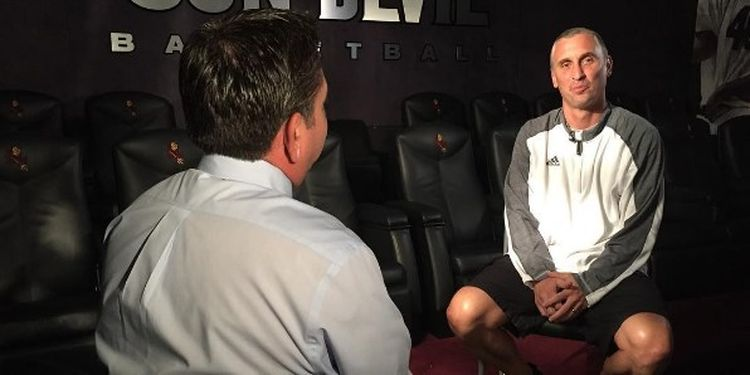 Image of Bobby Hurley giving an interview