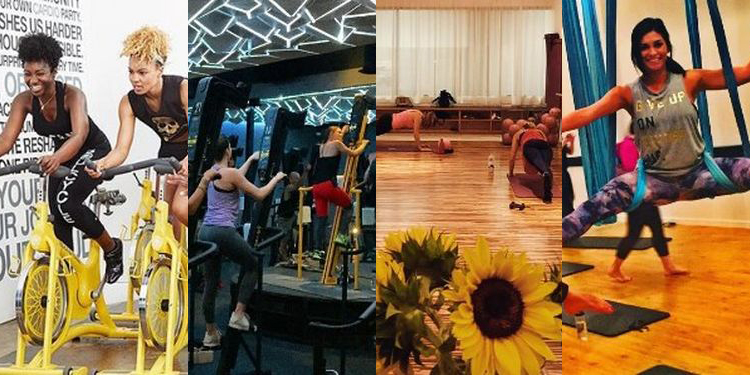 Image of Soulcycle, Rise Nation, Pop Physique and Aerial Fitness studios
